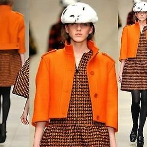 Burberry Orange Wool Jacket